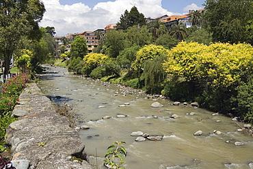 Rio Tomebamba, Cuenca, Azuay Province, Southern Highlands, Ecuador, South America