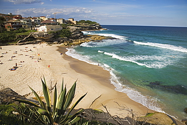 The fashionable beach at Tamarama, the sought-after district between Bondi and Bronte in the Eastern Suburbs, Tamarama, Sydney, New South Wales, Australia, Pacific