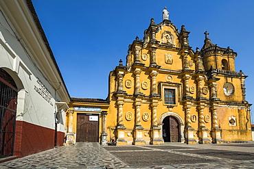 Mexican-style baroque facade of the Iglesia de la Recoleccion church built in 1786, in this historic northwest city, Leon, Nicaragua, Central America