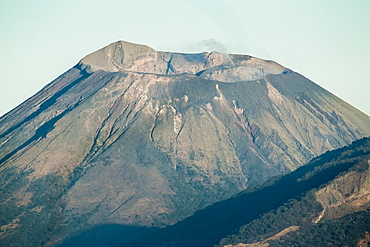 Summit of active Volcan San Cristobal, 1745m, in the North West volcano chain, the country's highest volcano, Chinandega, Nicaragua, Central America