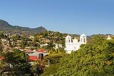 San Pedro Cathedral, built 1874 on Parque Morazan in this important northern commercial city, Matagalpa, Nicaragua, Central America