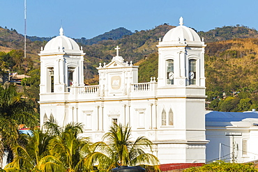 San Pedro Cathedral built in 1874 on Parque Morazan in this important northern commercial city, Matagalpa, Nicaragua, Central America