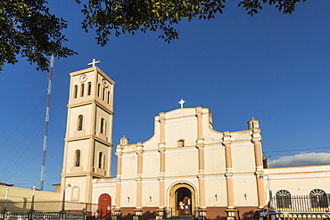 Facade and bell tower of the Iglesia San Jose in this important northern commercial city, Matagalpa, Nicaragua, Central America