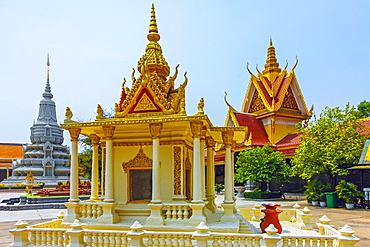 Miniature of ornate building in the Silver Pagoda complex of the Royal Palace, Royal Palace, City Centre, Phnom Penh, Cambodia, Indochina, Southeast Asia, Asia