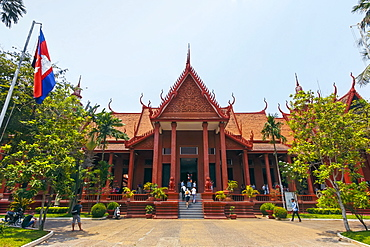 The 1920s National Museum of Cambodia, a large collection of historic Khmer artefacts, Preah Ang Eng St, Phnom Penh, Cambodia, Indochina, Southeast Asia, Asia