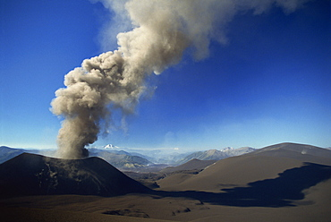New eruptive cone on the flank of Volcan Lonquimay, Araucania region, Chile, South America
