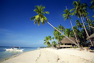 Alona Beach on the island of Panglao off the coast of Bohol, in the Philippines, Southeast Asia, Asia