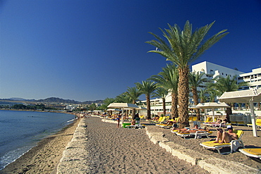 Seafront at Red Sea resort of Eilat, Israel, Middle East