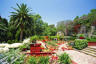 Gardens at the former Hacienda de San Gabriel de Barrera near Guanajuato in Guanajuato state, central Mexico, North America