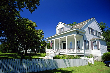 Typically southern clapboard house, Bay St. Louis, near Gulfport, Mississippi, United States of America, North America
