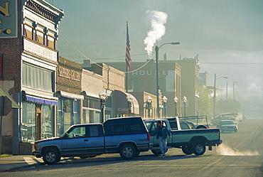 Winter morning, Philipsburg, Granite County, Montana, USA