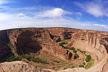 Divide between Canyon del Muerto and Black Rock Canyon, Antelope House Overlook, Canyon de Chelly National Monument, Arizona, United States of America, North America