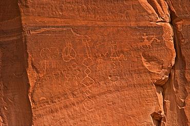 Petroglyphs, Canyon de Chelly National Monument, Arizona, United States of America, North America