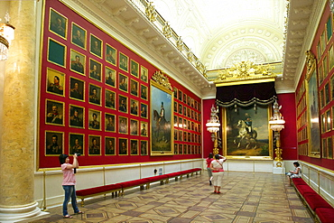 1812 War Gallery, Winter Palace, State Hermitage Museum, St. Petersburg, Russia, Europe