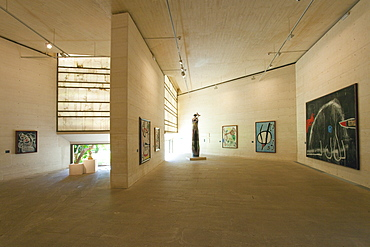 Interior galleries Fundacio Pilar i Joan Miro, Cala Major, Majorca, Balearic Islands, Spain, Europe