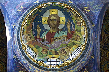 Interior mosaics, Church of the Saviour on Spilled Blood (Church of Resurrection), UNESCO World Heritage Site, St. Petersburg, Russia, Europe