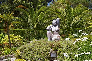 Gaia sculpture by David Wynne, Abbey Gardens, Isle of Tresco, Isles of Scilly, United Kingdom, Europe