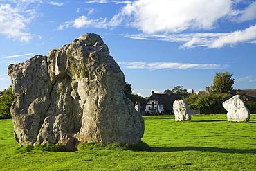 Megalithic stone circle, Avebury, UNESCO World Heritage Site, Wiltshire, England. United Kingdom, Europe