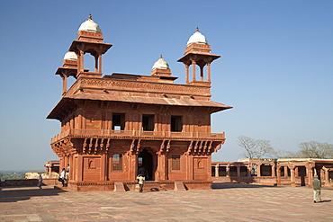 Diwan-i-Khas (Hall of Pivate Audience), Fatehpur Sikri, UNESCO World Heritage SIte, Uttar Pradesh, India, Asia