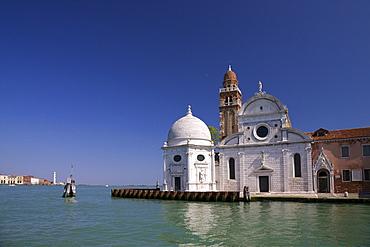 Church of San Michele in Isola in summer sun, cemetery island of San Michele, Venice, UNESCO World Heritage Site, Veneto, Italy, Europe