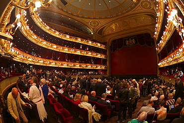 Audience in the Auditorium before performance, Royal Opera House, Covent Garden, London, England, United Kingdom, Europe