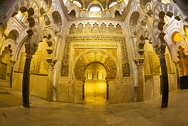 Interior of Mezquita (Great Mosque) and Cathedral, UNESCO World Heritage Site, Cordoba, Andalucia, Spain, Europe