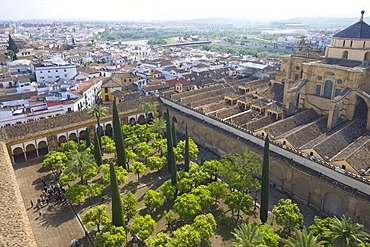 Exterior of Mezquita (Great Mosque) and Cathedral, UNESCO World Heritage Site, Cordoba, Andalucia, Spain, Europe