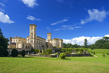 Osborne House, former royal residence, built 1845-1851 for Queen Victoria and Prince Albert, East Cowes, Isle of Wight, England, United Kingdom, Europe