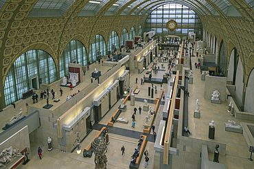 Interior of Musee D'Orsay Museum and Art Gallery, Paris, France, Europe