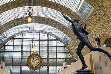 Interior of Musee D'Orsay Art Gallery, Paris, France, Europe