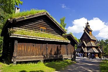 Gol 13th century Stavkirke (Wooden Stave Church), Norsk Folkemuseum (Folk Museum), Bygdoy, Oslo, Norway, Scandinavia, Europe