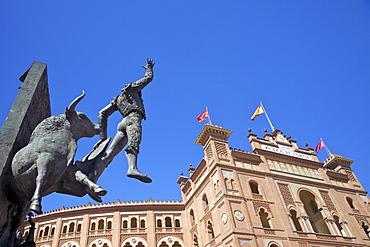 Monument to the matador Jose Cubero (El Yiyo), near Las Ventas bullring, Plaza de Toros de Las Ventas, Madrid, Spain, Europe