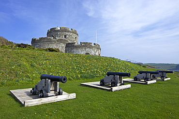 St. Mawes Castle, an artillery fortress built by Henry VIII, Cornwall, England, United Kingdom, Europe