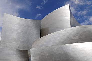 Partial view, Walt Disney Concert Hall by Frank Gehry, Los Angeles, California, USA
