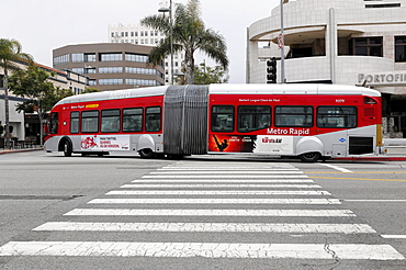 Metro Rapid Bus, Santa Monica, California, USA