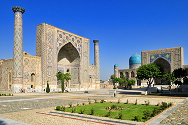 Registan Square in Samarkand, Unesco World Heritage Site, Silk Road, Uzbekistan, Central Asia