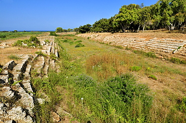 Stadium at the Phoenician archeological site of Amrit near Tartus, Tartous, Syria, Middle East, West Asia