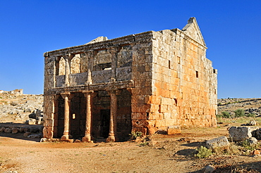 Byzantine ruin of a tavern at the archeological site of Serjilla, Dead Cities, Syria, Middle East, West Asia