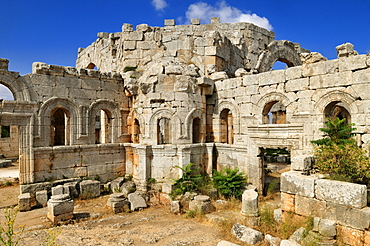 Ruin of Saint Simeon Monastery, Qala'at Samaan, Qalaat Seman archeological site, Dead Cities, Syria, Middle East, West Asia