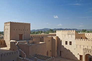 Interior view of the fort of Nizwa, Oman, Middle East