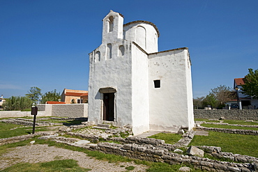 Church of the Holy Cross, Nin, Zadar County, Croatia, Europa