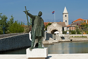 Monument to Gregory of Nin, Nin, Zadar County, Croatia, Europe
