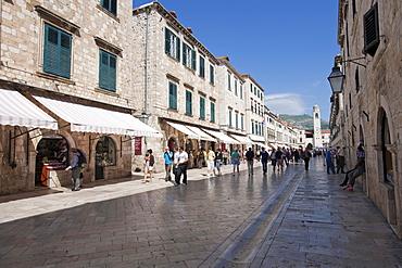 Placa, Stradun, old town, Dubrovnik, Dubrovnik County, Croatia, Europe