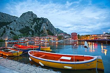 Omis, boats on the Cetina River, Split-Dalmatia County, Croatia, Europe