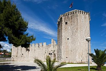 Castle tower, Trogir, County of Split-Dalmatia, Croatia, Europe