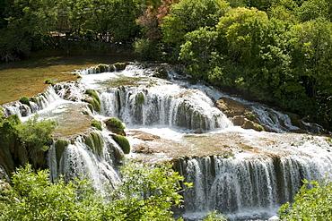 Waterfalls in Krka National Park, aeibenik-Knin County, Croatia, Europe