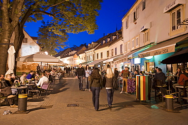 Tkalciceva, promenade and night life in Zagreb, Croatia, Europe