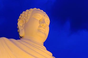 24m high, white Buddha statue, Nha Trang, Vietnam, Asia