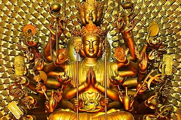 Golden Buddha statue, Nha Trang, Vietnam, Southeast Asia