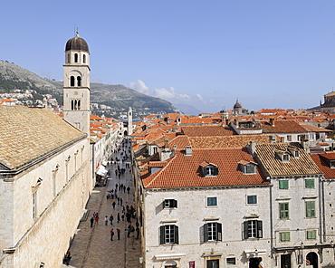 Stradun, Dubrovnik, Ragusa, Croatia, Europe